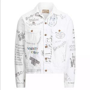 Ralph Lauren Graffiti NY Rowdies White Jacket